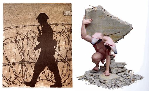 GÉRARD FROMANGER, A concrete memory, 1998 - DAVID MACH, Le monstre constructeur, 1990