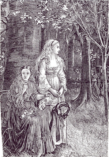 Illustration pour The Dark Blue, Michael Fitzgerald pour Carmilla, 1872