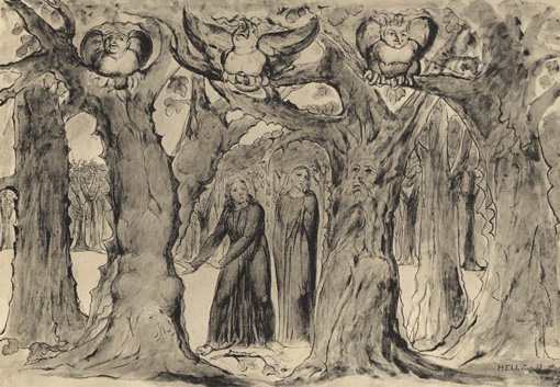 The Wood of the Self-Murderers The Harpies and the Suicides, William Blake 1824–27