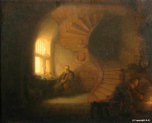Rembrandt - philosophe en méditation