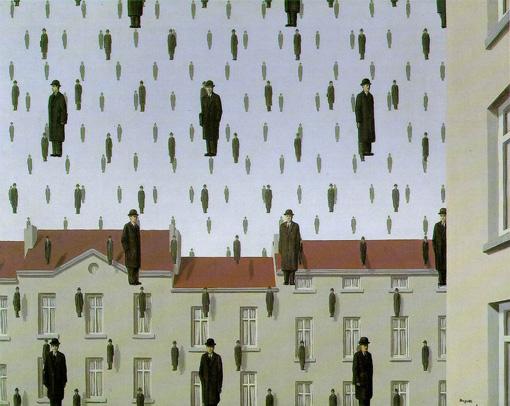 René Magritte - Pluie d'hommes qui s'abat sur la ville