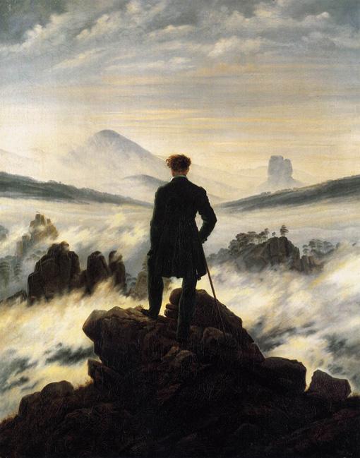 Caspar David Friedrich - voyageur contemplant une mer de nuage